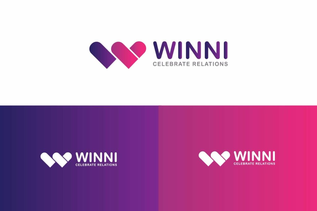 winni-rebranding-Logo, Identity design, Webdesign