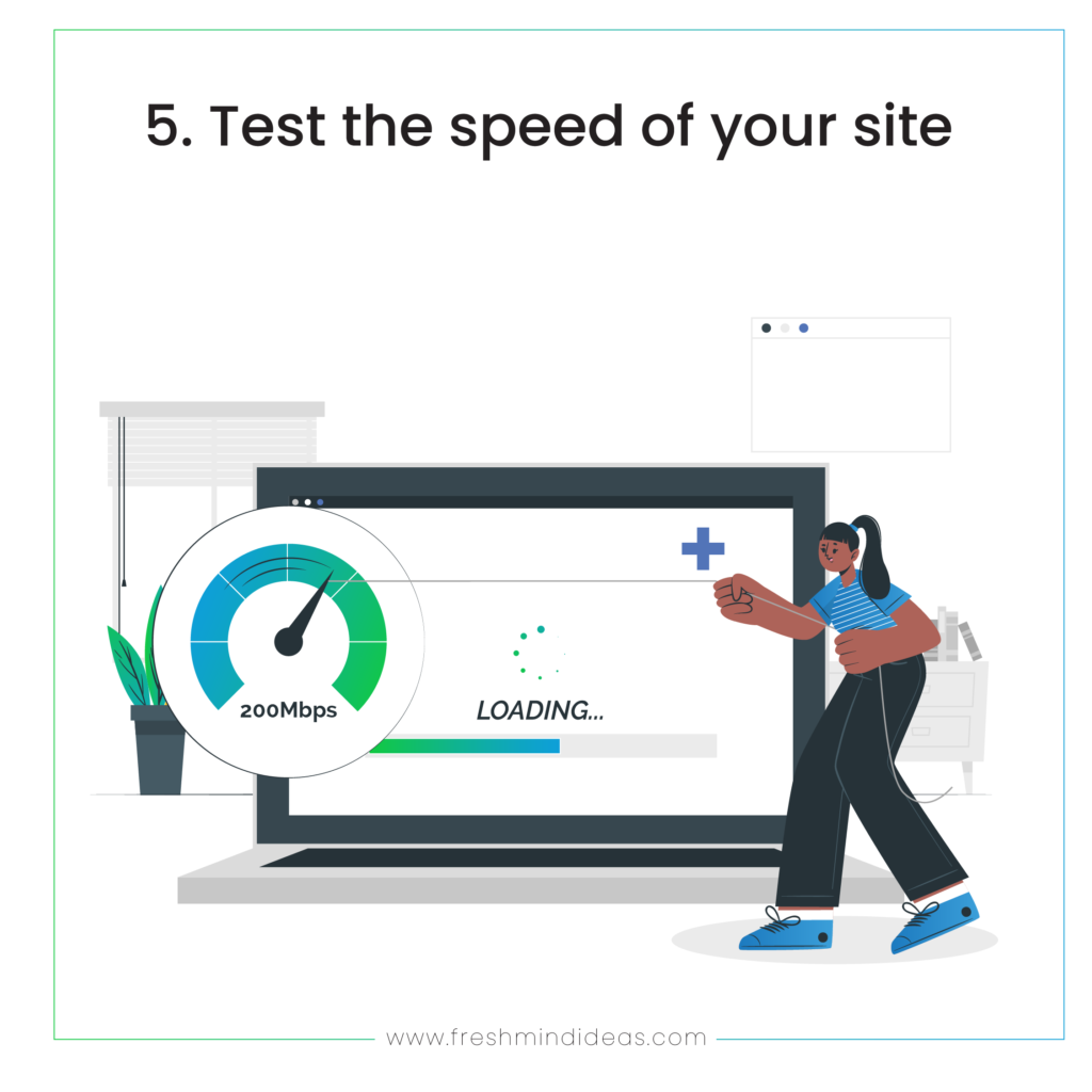 Test the speed of your site